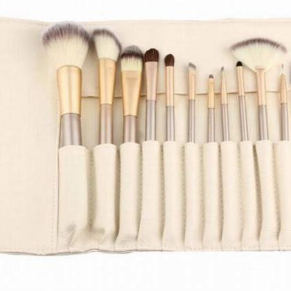 High Quality 12 wool makeup brushes..