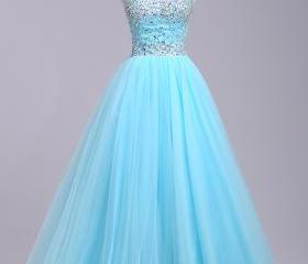 Long Tulle Prom Dres..