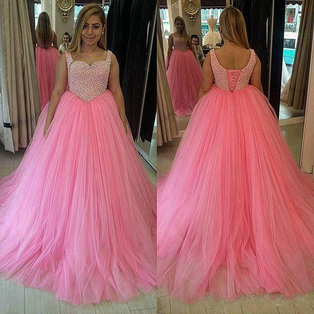 Ball Gown A-line Tulle Prom Dresses Spaghtti Straps Women Party Dresses