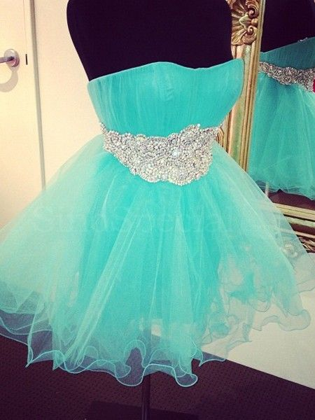 Lovely Short Tulle Homecoming Dresses Sweetheart Neck Crystals Party Dresses Mini Women Dresses Tailor Made