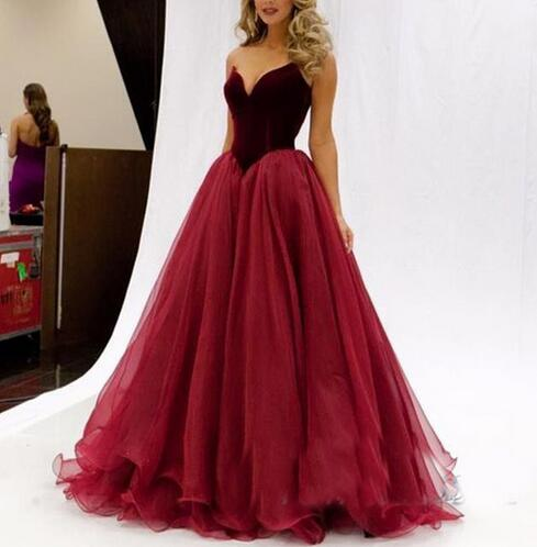sweetheart neck a line tulle prom dresses charming floor. Black Bedroom Furniture Sets. Home Design Ideas