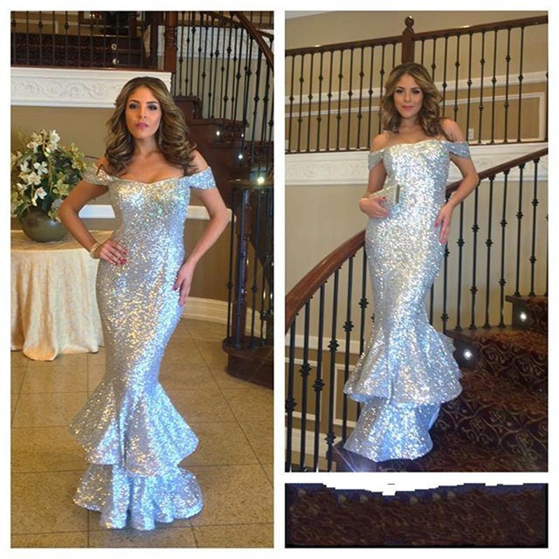 b892072aee72d Off Shoulder Mermaid Sequin Lace Women Prom Dresses on Luulla