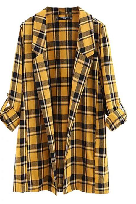 Long Sleeve Fashion Women Stripes Coat Jacket