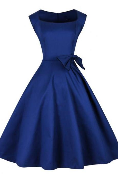 Navy Blue Short Satin Homecoming Dress Cap Sleeve Mini Dress