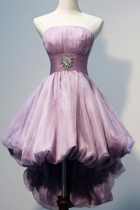 Lovely Short Tulle Homecoming Dresses Strapless A-line Party Dresses Tailor Made Women Dresses