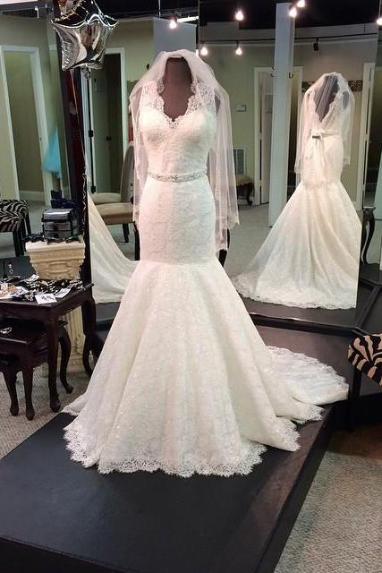 White Lace Wedding Dresses Sweetheart Neck Tulle Bridal Gowns Custom Made Women Dresses