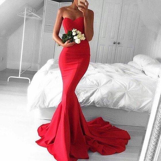 Mermaid Satin Women prom Dress Long Women Evening Dress 2019