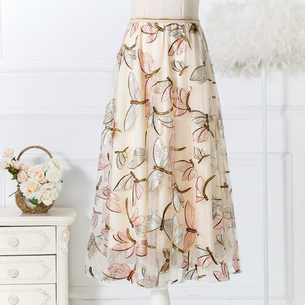 A-line Flower Printed Chiffon Women Shirt Summer Dress