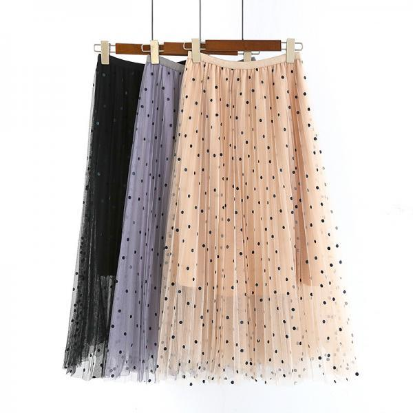 Long Tulle Women Skirt Buy one get one Black Spot