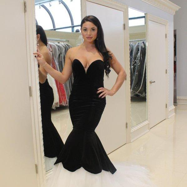 Sexy Mermaid Tulle Prom Dresses Sweetheart Neck Floor Length Party Dresses 2016 Custom Made Women Dresses